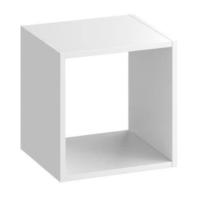 Scocca di armadio ripostiglio 1 cubo Kub SPACEO L 36 x H 36 x Sp 31.7 cm bianco