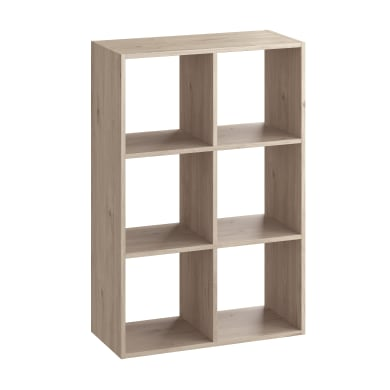 Base 6 cubi Kub SPACEO L 70.4 x H 104.9 x Sp 31 cm rovere