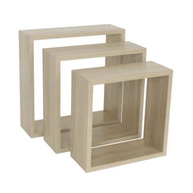 Mensola a cubo L 30 x H 30 cm, Sp 12 mm rovere