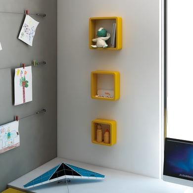 Mensola a cubo L 10 x H 28 cm, Sp 15 mm giallo
