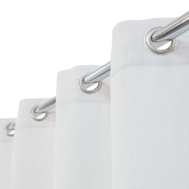 Tenda Lazaro bianco e argento occhielli 140 x 280 cm
