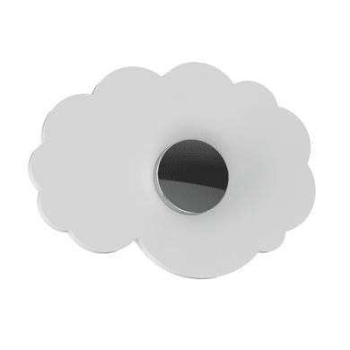 Spine di giunzione Appendimi Nuvola bianco e cromo cromato in inox