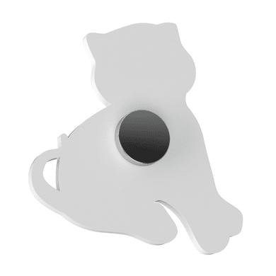 Spine di giunzione Appendimi Gatto bianco cromato in inox