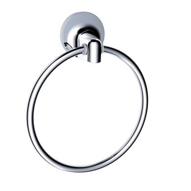 Porta salviette ad anello argento cromo lucido L 15.5 cm