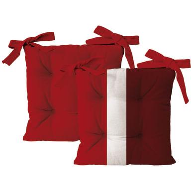 Cuscino per sedia Rigone rosso 40x40 cm, 4 pezzi