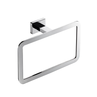 Porta salviette ad anello cromo lucido L 13 cm