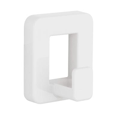 Gancio Funky bianco materiale plastico in plastica