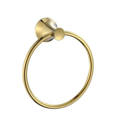 Porta salviette ad anello dorato lucido L 15.5 cm