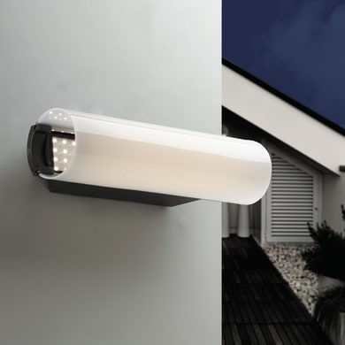 Applique Tunnel LED integrato in alluminio, nero, 12W 800LM IP44