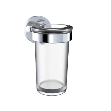 Bicchiere porta spazzolini Style in vetro cromo