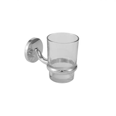Bicchiere porta spazzolini in cristallo