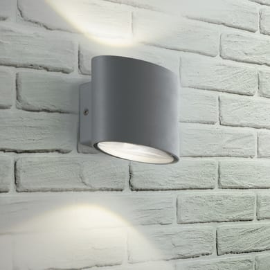 Applique Boxter LED integrato in alluminio, grigio, 4W 700LM IP44