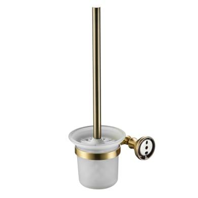 Porta scopino wc a muro in ottone oro