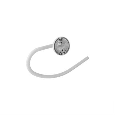 Porta salviette ad anello bianco dipinto L 24.8 cm