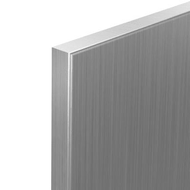 Set di 2 Porta dell'armadio da cucina DELINIA ID 29.8 x 76.5 grigio acciaio
