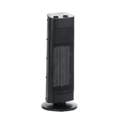 Termoventilatore ceramico mobile EQUATION nero 2000 W