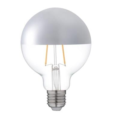 Lampadina LED, E27, Globo, Argentato, Luce calda, 7W=806LM (equiv 60 W), 300° , LEXMAN