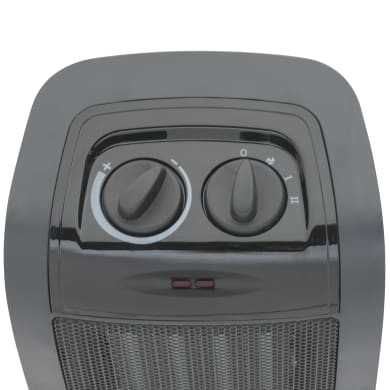 Termoventilatore ceramico mobile EQUATION nero 1500 W