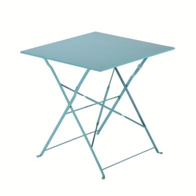 Tavolo da giardino quadrata Flora Origami NATERIAL con piano in metallo L 70 x P 70 cm