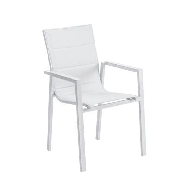 Sedia con braccioli senza cuscino in alluminio Orion Gamma NATERIAL colore grigio chiaro