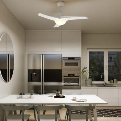 Ventilatore da soffitto Aruba, bianco, D. 112 cm, con telecomando