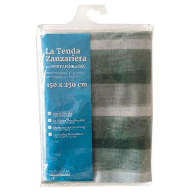Tenda zanzariera ad anelli L 150 x H 250 cm bianco