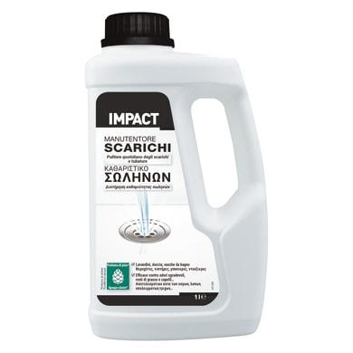 Prodotto per la manutenzione delle fosse settiche IMPACT manutentore scarichi per wc e tubazione