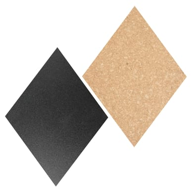 Lavagna per gesso Mix sighero denari nero 30x44.7 cm