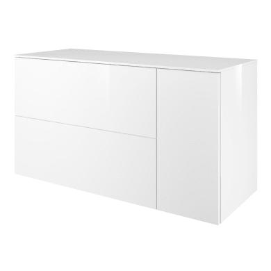 Mobile lavabo L 120 x P 48 x H 65 cm in mdf bianco