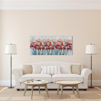 Quadro su tela Campo di fiori 60x120 cm