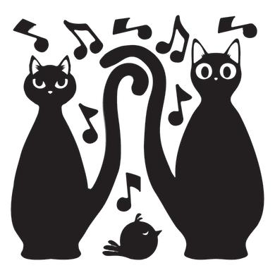 Sticker Cats Silhouttes 31x31 cm