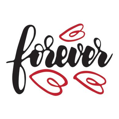 Sticker Forever 47x70 cm