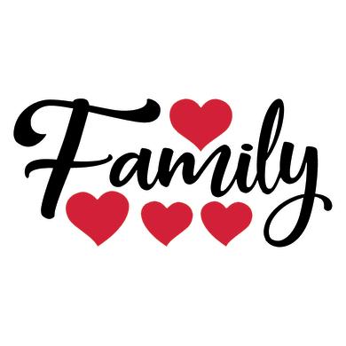 Sticker Family 15x31 cm
