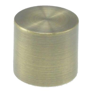 Finale per bastone Ø16mm Stelvio tappo in acciaio anticato Set di 2 pezzi