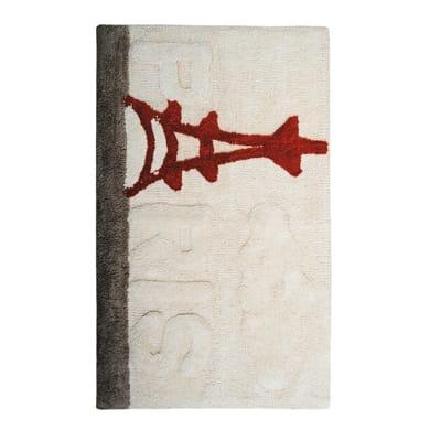 Tappeto bagno rettangolare Warhol in 100% cotone beige 90 x 55 cm