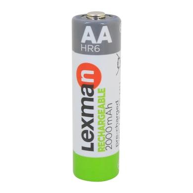 Pila ricaricabile HR6 LEXMAN 844976 4 batterie