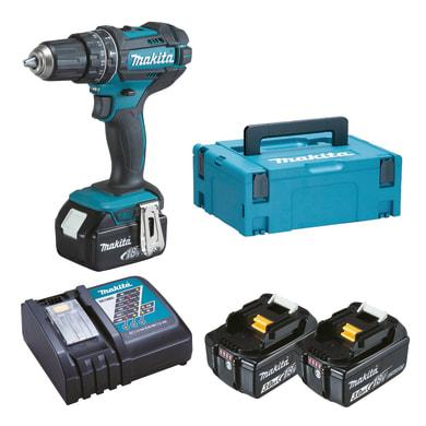 Trapano avvitatore a batteria DHP482RF3J 18 V, 3 Ah, 3 batterie