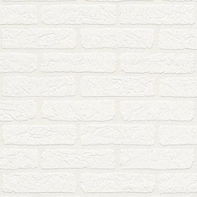 Carta da parati Mattone soft bianco