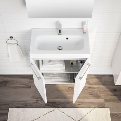 Mobile bagno Remix rovere chiaro e bianco  L 60 cm