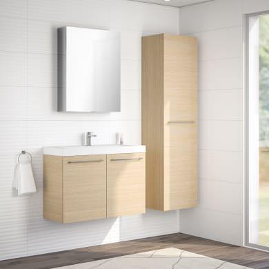 Mobile bagno Remix rovere chiaro L 90 cm