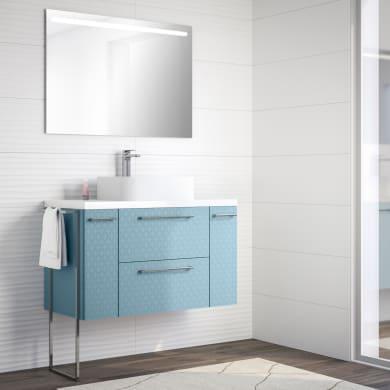 Mobile bagno Remix azzurro L 106 cm