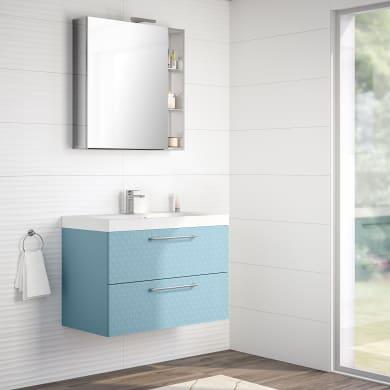 Mobile bagno Remix azzurro L 90 cm