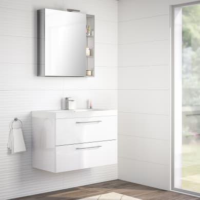 Mobile bagno Remix bianco L 90 cm