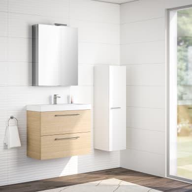 Mobile bagno Remix rovere chiaro L 75 cm