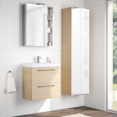 Mobile bagno Remix rovere chiaro L 60 cm