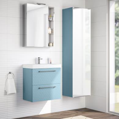 Mobile bagno Remix azzurro L 60 cm