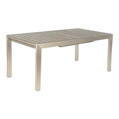 Tavolo da giardino allungabile rettangolare Albany NATERIAL con piano in composito L 180/260 x P 100 cm