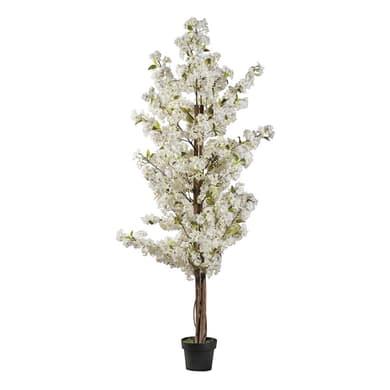 Pianta artificiale Ciliegio bianco in vaso H 200 cm