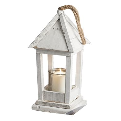 Lanterna da giardino in legno L 21 x H 46 cm