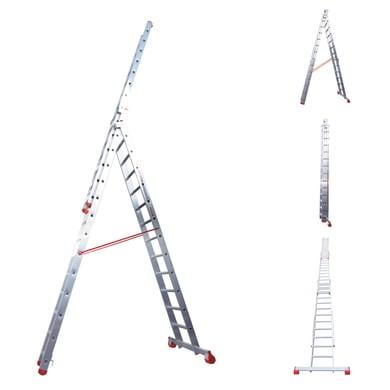 Scala a sfilo FARAONE in alluminio 11 gradini per lavori fino a 7.7 m